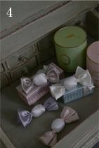 キャンディー型の珍しいサシェ。お友達へのプレゼントにも最適です。